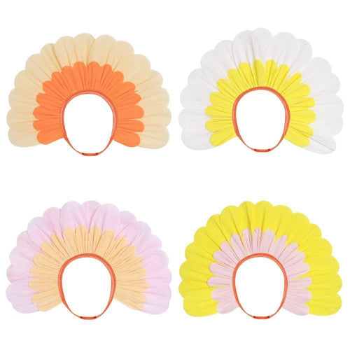Flower Paper Bonnets (Pack 4)