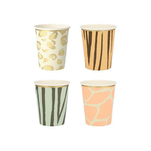 Safari Animals Cups (Pack 8)