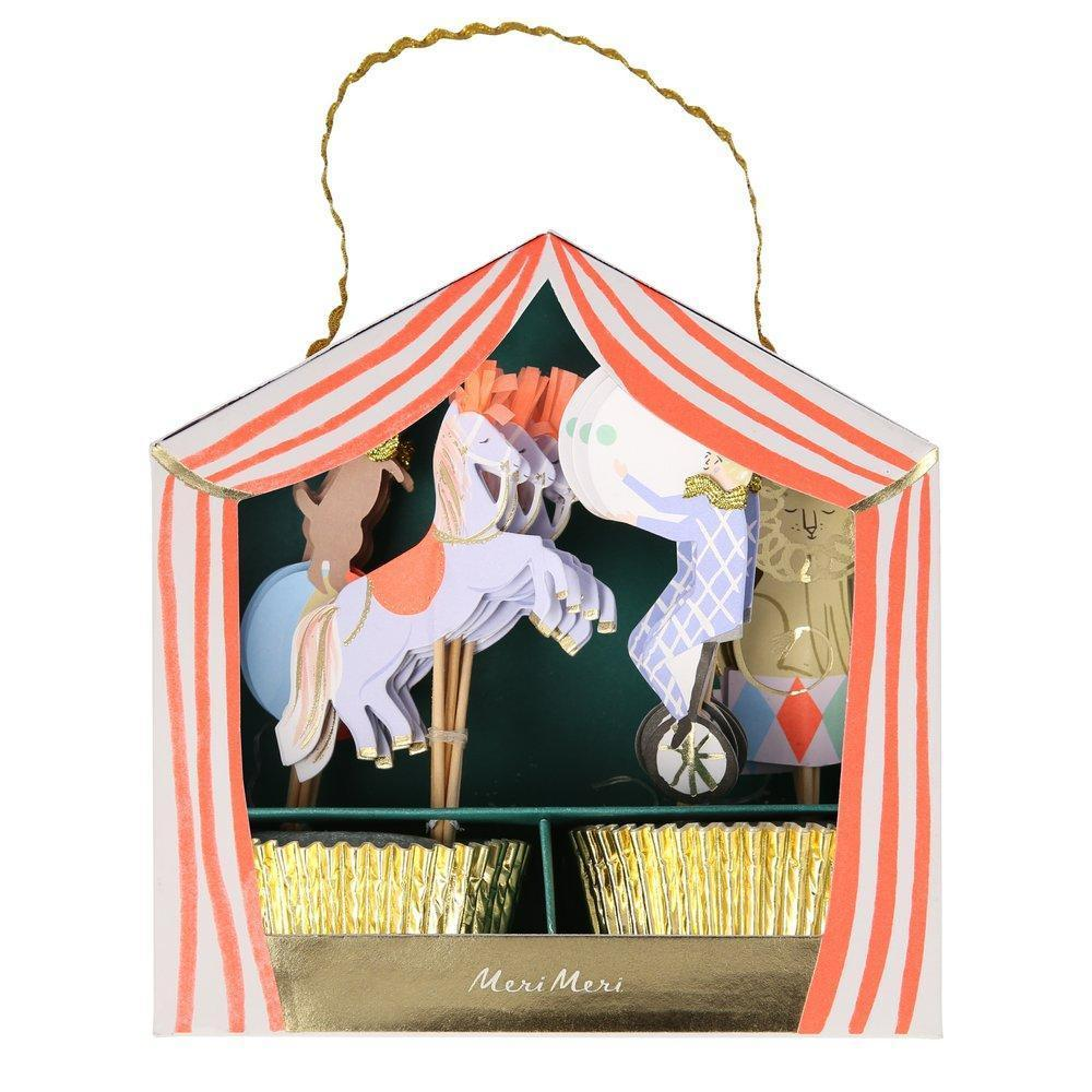 Circus Parade Cupcake Kit (Pack 24)