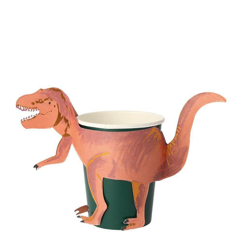 Dinosaur Kingdom T-Rex Cups (Pack 8)