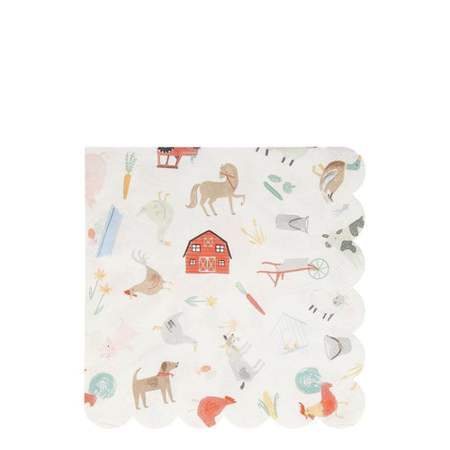 On The Farm Large Napkins (Pack 20)