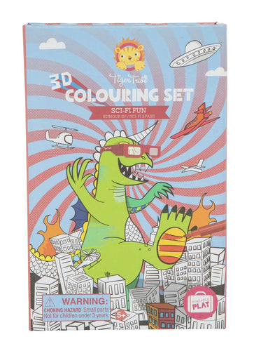 Tiger Tribe 3D Colouring Set Sci-Fi Fun