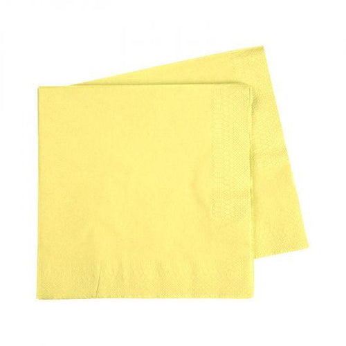 Pastel Yellow Napkins Small