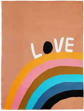 Load image into Gallery viewer, CASTLE Love Rainbow Baby Throw