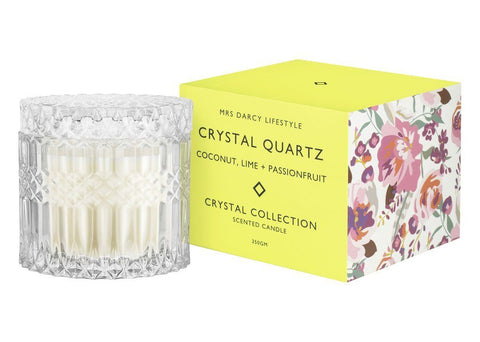 Mrs Darcy Candle Crystal Quartz - Coconut, Lime + Passionfruit