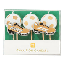 Load image into Gallery viewer, Party Champion Soccer Candle Set