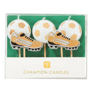 Party Champion Soccer Candle Set