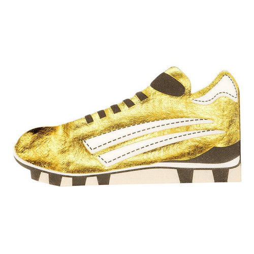Party Champion Soccer Boot Gold Napkins