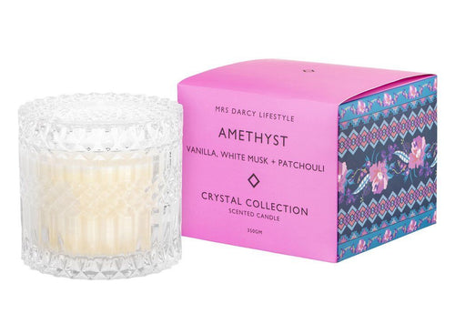 Mrs Darcy Candle Amethyst - Vanilla, White Musk + Patchouli