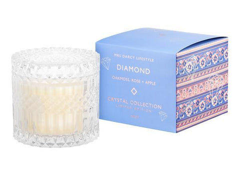 Mrs Darcy Candle Diamond - Oakmoss, Rose + Apple