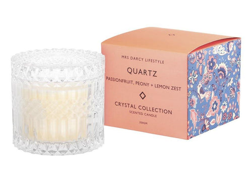 Mrs Darcy Candle Quartz - Passionfruit, Peony + Lemon Zest