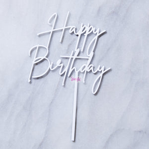 Mini Topper White - Happy Birthday