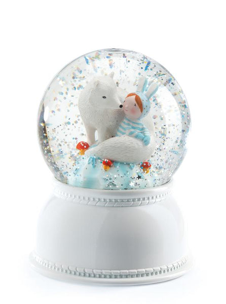 Djeco Lila & Pupi Snow Globe Night Light