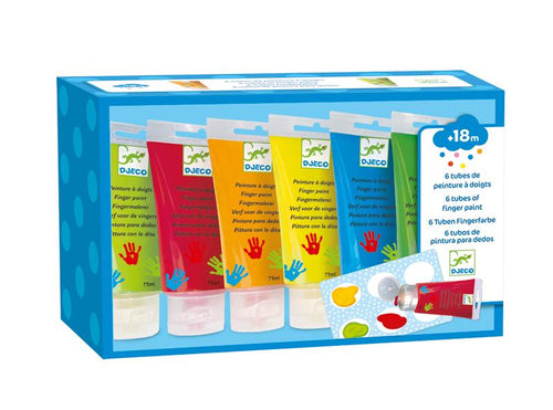 Djeco Finger Paint Tubes Set 6