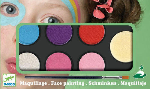 Djeco Unicorn Face Paint Palette 6 Colours