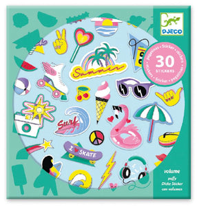 Djeco California Puffy Stickers Pack 30