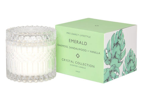 Mrs Darcy Candle Emerald - Oakmoss, Sandalwood + Vanilla