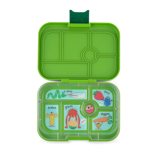 Yumbox Original 6 Compartment GO Green Funny Monsters Tray