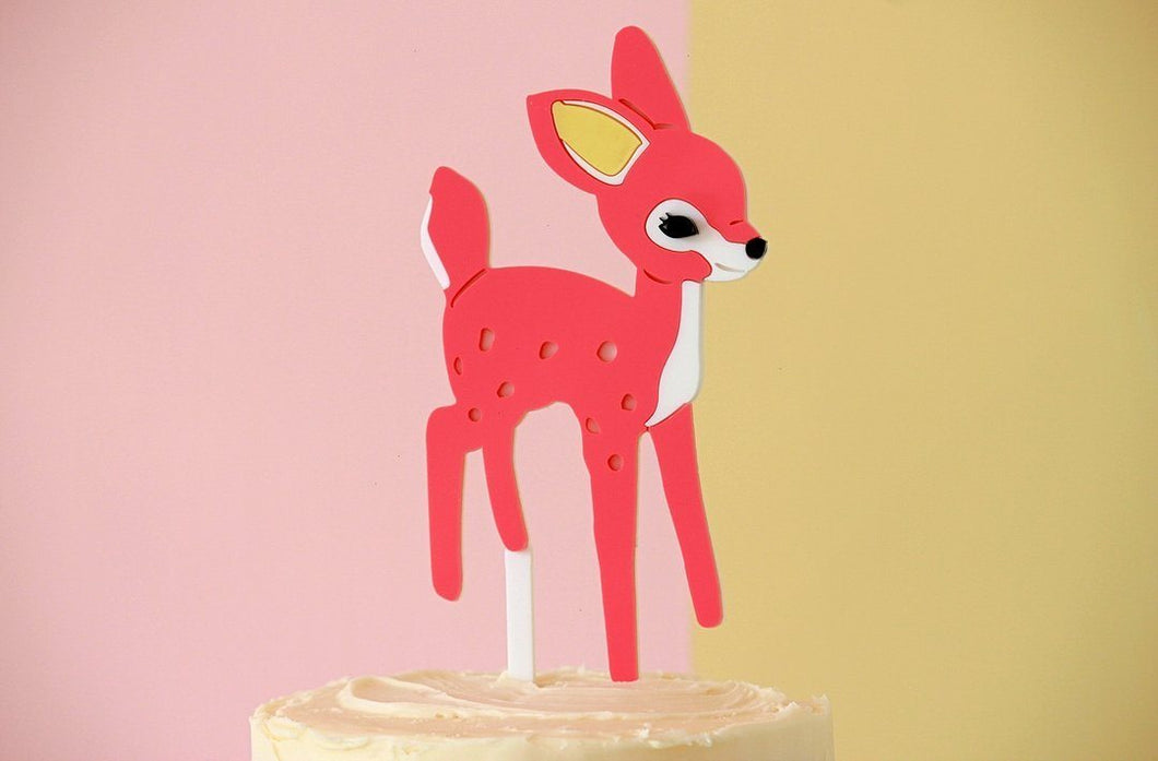 Delightful Deer Cake Topper