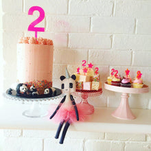 Load image into Gallery viewer, Pink Neon Number Cake Topper