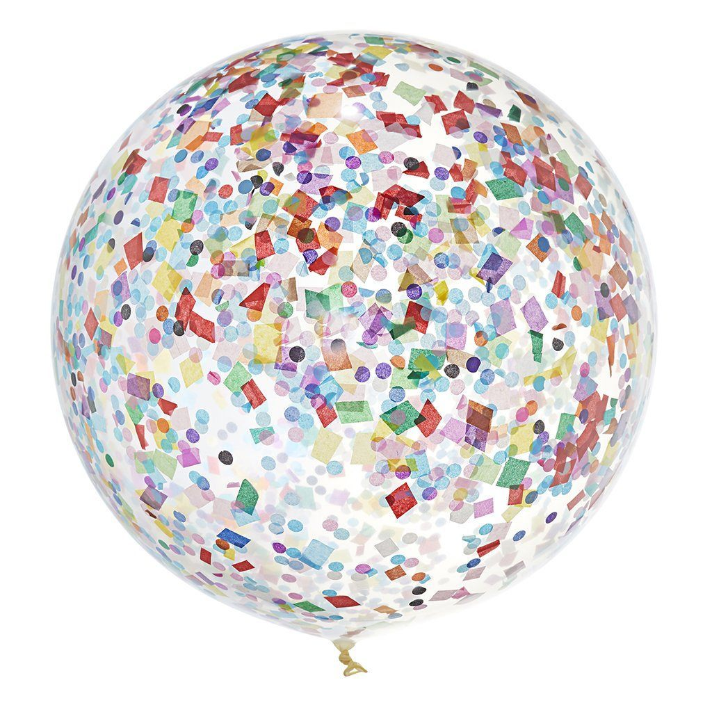 INFLATED Jumbo Confetti Balloon Good Times