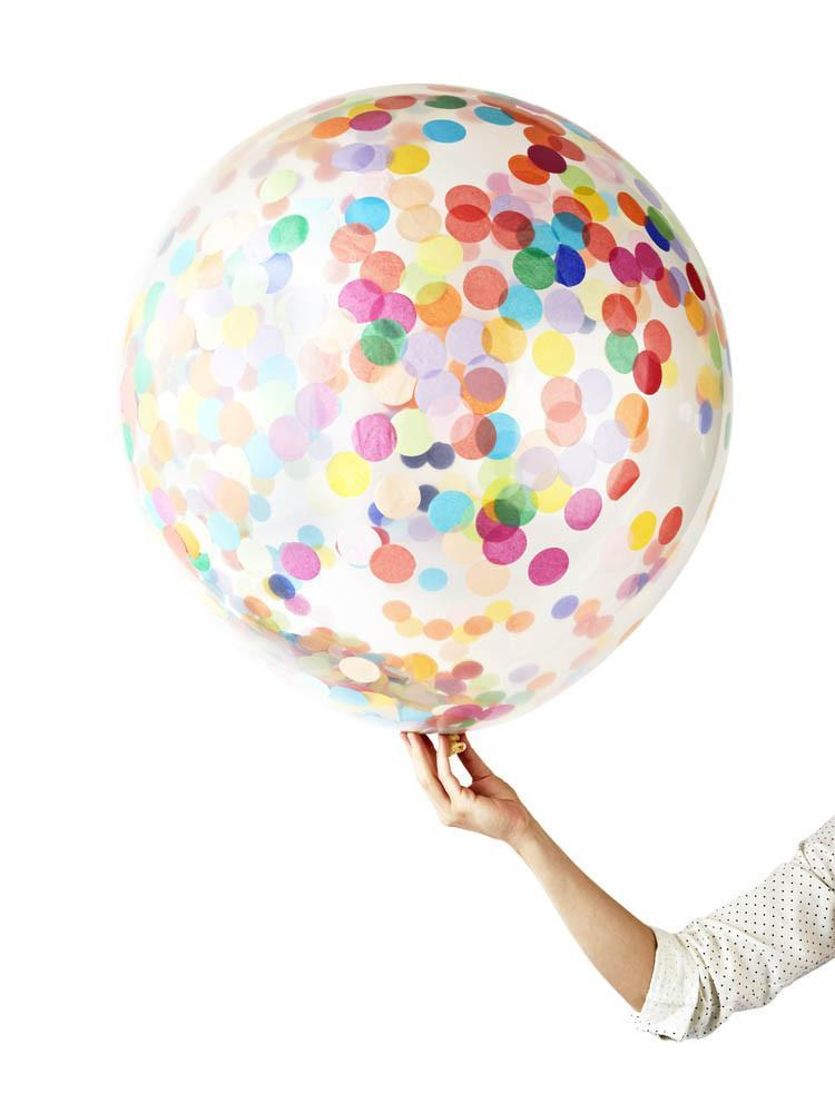 Jumbo Confetti Balloon Happy