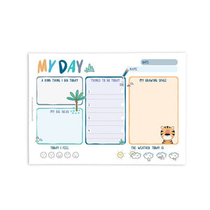 My Day A5 Notepad Blue