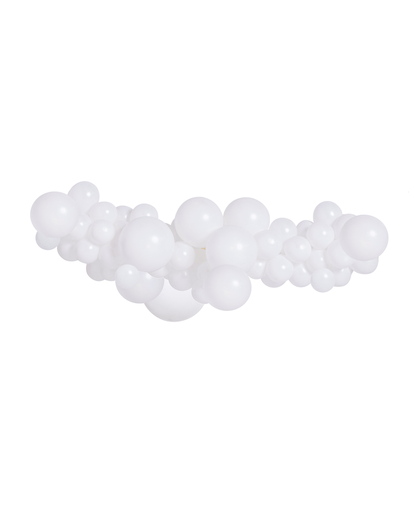Medium White Balloon Garland