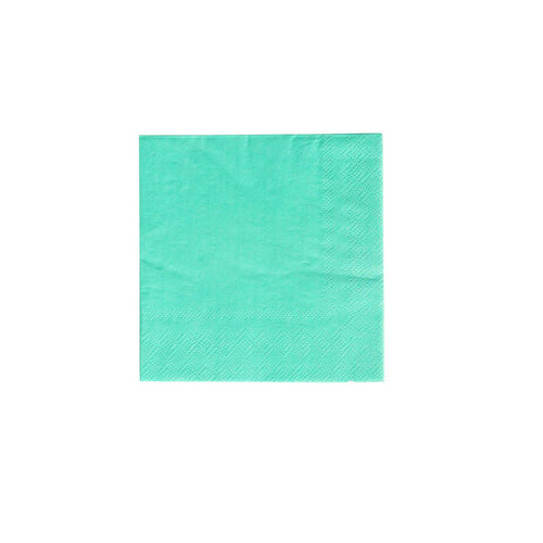 Oh Happy Day Cocktail Napkin Teal (Pack 20)