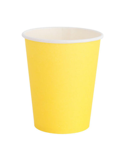 Oh Happy Day Classic Cups Happy Yellow (Pack 8)