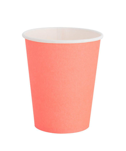 Oh Happy Day Classic Cups Neon Coral (Pack 8)