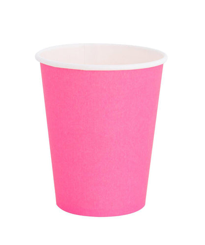 Oh Happy Day Classic Cups Neon Rose (Pack 8)