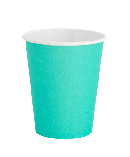 Oh Happy Day Classic Cups Teal (Pack 8)