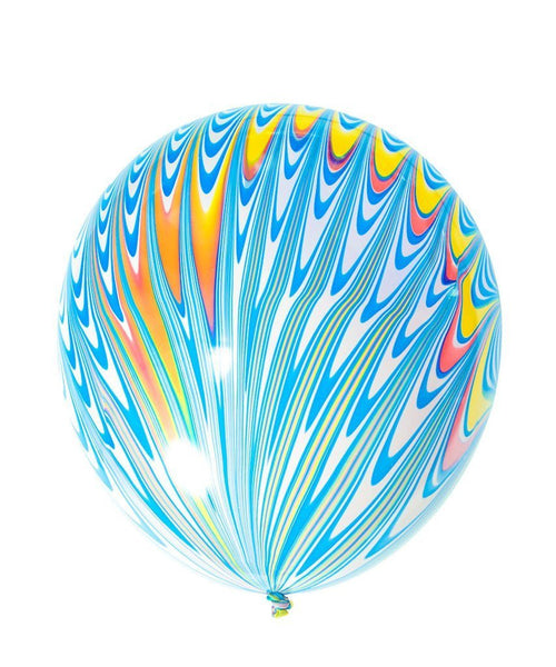 Blue Peacock Latex Balloon