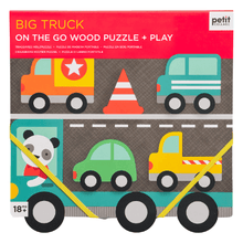 Load image into Gallery viewer, Big Truck Chunky Wood Puzzle & Play