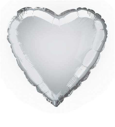 "Silver 18"" Foil Heart Balloon"