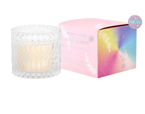 Mrs Darcy Candle Aura Quartz - Rose, Sweet Citrus + Orange Blossom