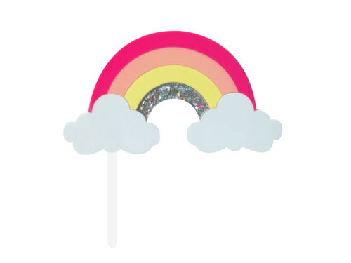 Pink Rainbow Cake Topper