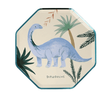 Load image into Gallery viewer, Dinosaur Kingdom Plates (Pack 8)