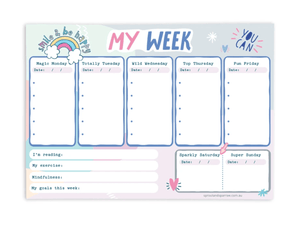 My Week A5 Notepad Pink