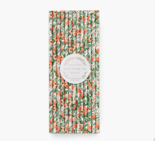 Rifle Paper Wild Rose Paper Straws
