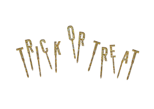 Luxe Trick Or Treat Cake Topper Set