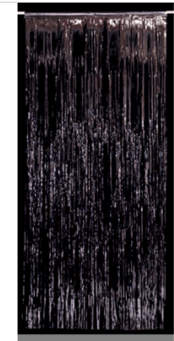 Foil Curtain Backdrop - Black