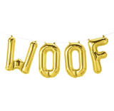 WOOF Gold Air Filled Foil Balloon