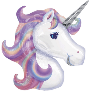 Unicorn Head Pastel Foil Balloon