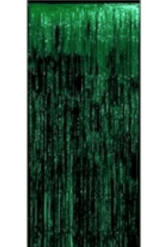 Foil Curtain Backdrop - Green