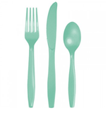 Mint Plastic Cutlery Set 24