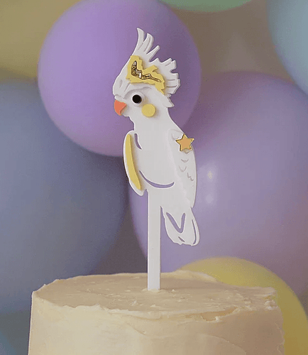 Hey Galah Cake Topper