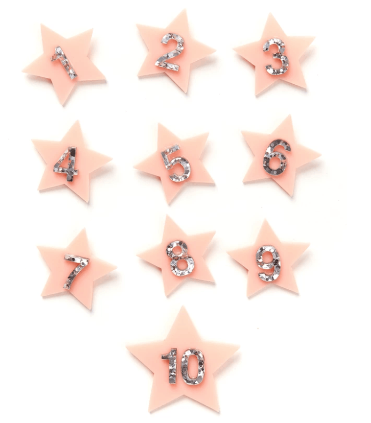 Birthday Badge Blush Star #5