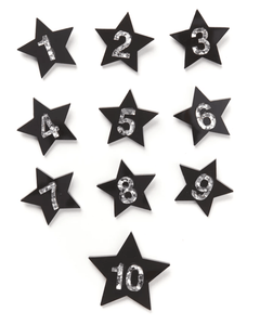 Birthday Badge Black Star #5
